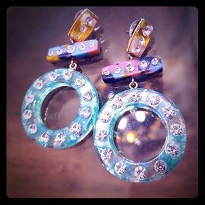 Bubble bar dangle earrings
